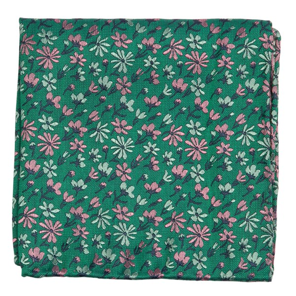 Green Daffodil Garden Pocket Square