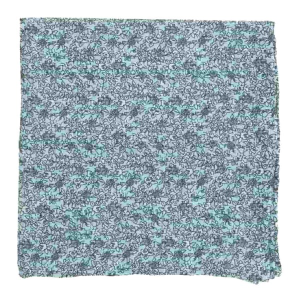 Light Blue Wild Rosa Pocket Square