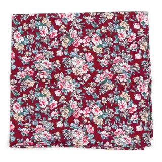 rustica florals burgundy pocket square