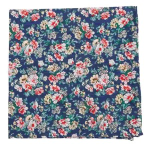 rustica florals navy pocket square
