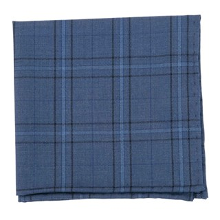 quotidian plaid navy pocket square