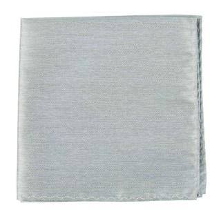 Mumu Weddings - Desert Solid Silver Sage Pocket Square