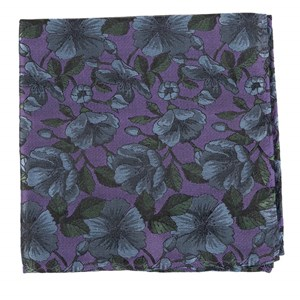monarch floral purple pocket square