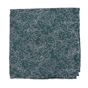 lace floral hunter green pocket square