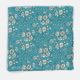 Liberty Capel Pool Blue Pocket Square