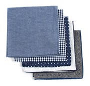 POCKET SQUARES - BASIC NAVY PACK - NAVY