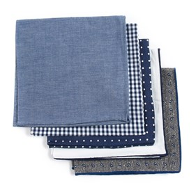 Navy Basic Navy Pack pocket square