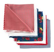 POCKET SQUARES - TRENDY RED PACK - RED