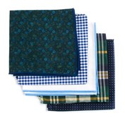 POCKET SQUARES - TRENDY GREEN PACK - GREEN