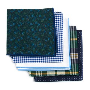 trendy green pack green pocket square