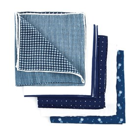 Navy Summer Navy Pack pocket square