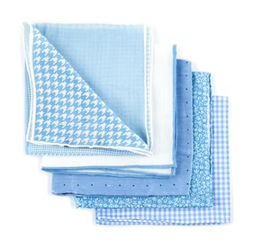 Light Blue Trendy Light Blue Pack pocket square
