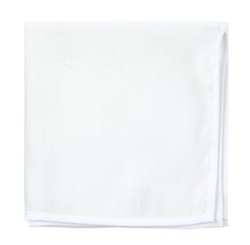 Contrasting White White Linen With Border pocket square