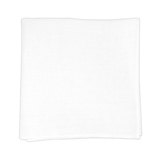solid white linen white pocket square