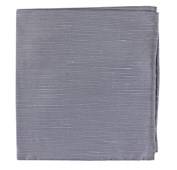 POCKET SQUARES - FOUNTAIN SOLID - SILVER