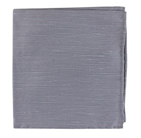 Silver Fountain Solid pocket square