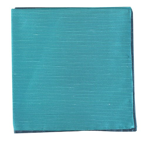Ocean Blue Fountain Solid Pocket Square