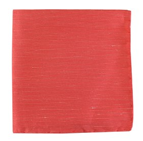 Coral Fountain Solid pocket square