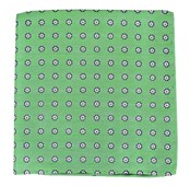 POCKET SQUARES - HALF MOON FLORAL - APPLE GREEN