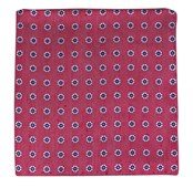 POCKET SQUARES - HALF MOON FLORAL - RED