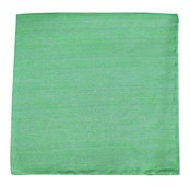 POCKET SQUARES - SAND WASH SOLID - APPLE GREEN
