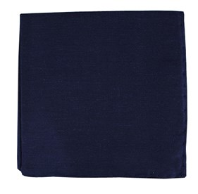 Sand Wash Solid Navy pocket square