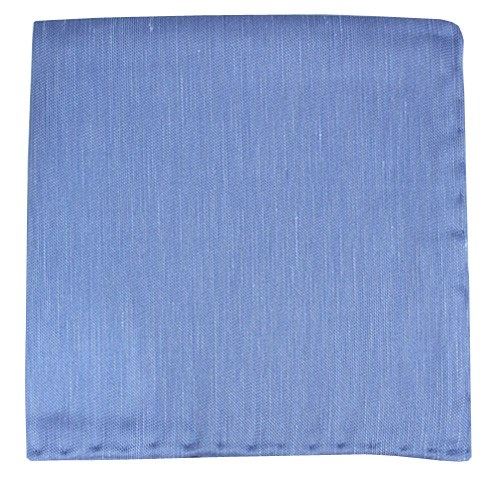 Light Blue Sand Wash Solid Pocket Square