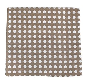 Cherry Beach Dots Champagne pocket square