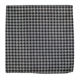 white wash houndstooth light grey pocket square