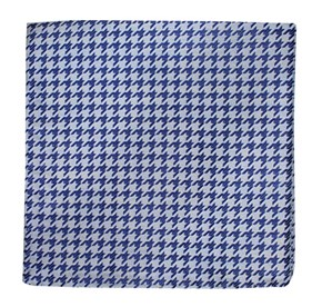 Soft Blue White Wash Houndstooth pocket square