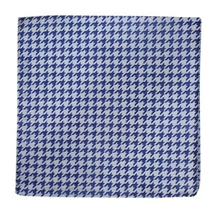 white wash houndstooth soft blue pocket square