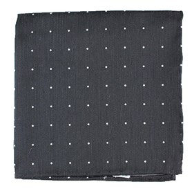 Grey Bulletin Dot pocket square
