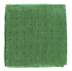 Kelly Green Bulletin Dot pocket square
