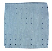 Pocket Squares - BULLETIN DOT - WASHED POOL BLUE