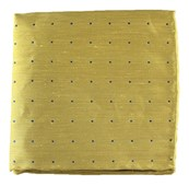 Pocket Squares - Bulletin Dot - Yellow