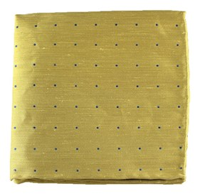 Yellow Bulletin Dot pocket square