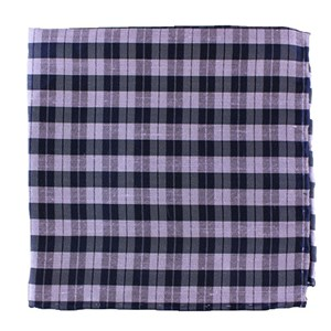 profile plaid lilac pocket square