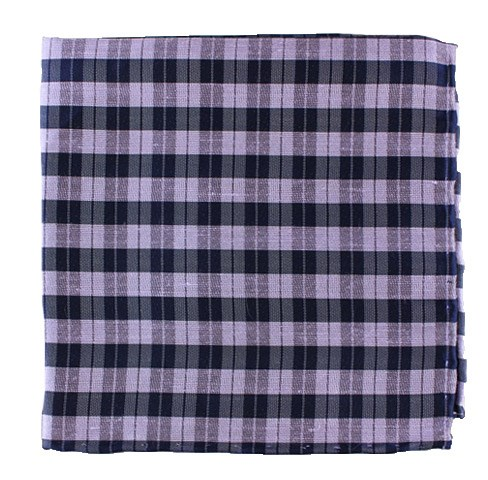 Lilac Profile Plaid Pocket Square