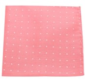 Pocket Squares - Dotted Dots - Coral