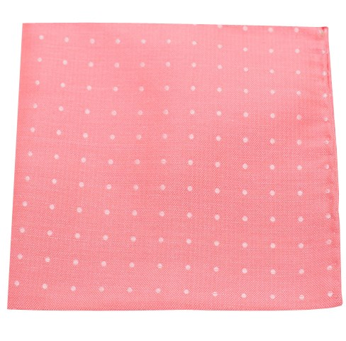 Coral Dotted Dots Pocket Square