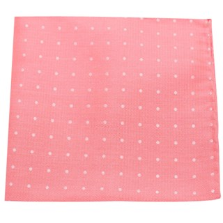 Dotted Dots Coral Pocket Square