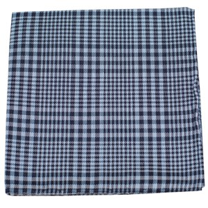 huntington plaid light blue pocket square