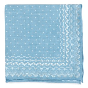 outpost paisley light blue pocket square