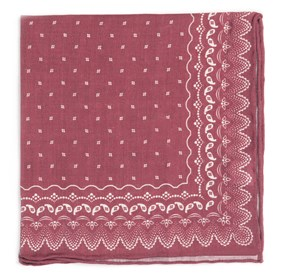 Marsala Outpost Paisley pocket square