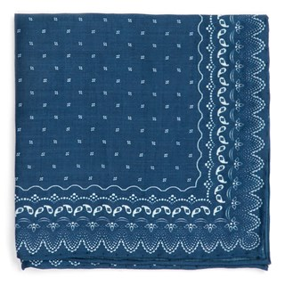 Outpost Paisley Royal Blue Pocket Square