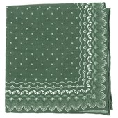 POCKET SQUARES - OUTPOST PAISLEY - OLIVE GREEN