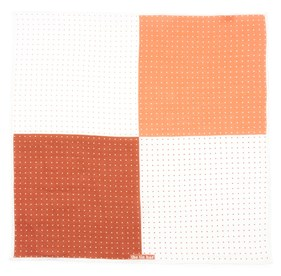 Burnt Orange Revolution Dots pocket square