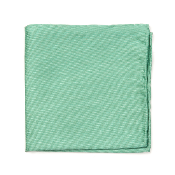 Kelly Green Sand Wash Solid Pocket Square