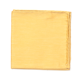 Mustard Sand Wash Solid pocket square