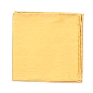 sand wash solid mustard pocket square
